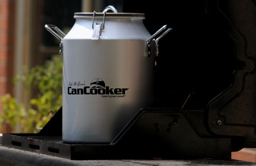 The CanCooker uses pressured steam to cook meals.