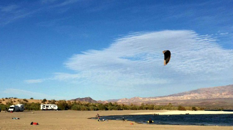 Kite Boarding RVers Catch Big Air and Good Times