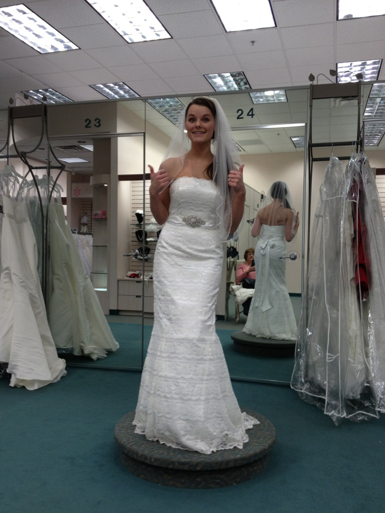 say yes to the dress galina wedding dresses The last was a lace trumpet gown from the Galina collection We added the buckle and it really brought the dress together and added what it needed