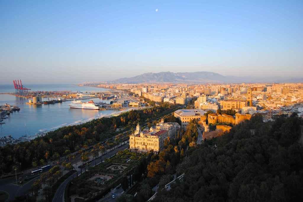 Málaga Cityscape at Sunrise