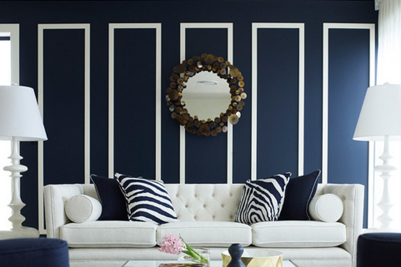 Fulgurant Navy Blue Navy Rooms To Inspire You To Pick Up Paintbrush Huffpost Navy Rooms To Inspire You To Pick Up Paintbrush Colors That Go Colors That Go Red Navy Blue houzz-02 Colors That Go With Navy Blue