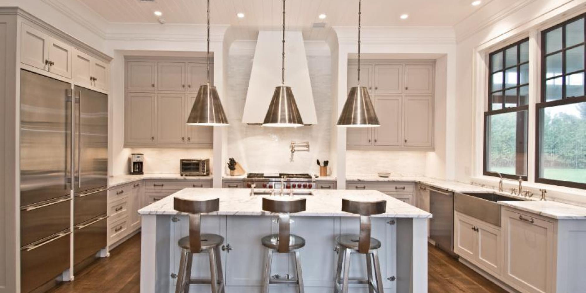 Cheerful Paint Colors Subway Tile Brown Glaze Cream Kitchen Cabinets Kitchen Huffpost Cream Kitchen Cabinets Every Type houzz-02 Cream Kitchen Cabinets