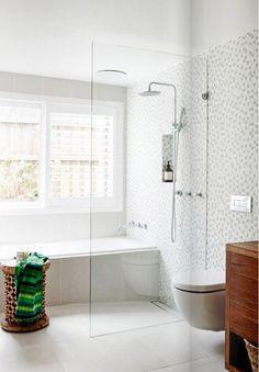 bathtub or shower? b