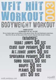 Bodyweight Workouts on Pinterest | Tabata, Workout and Home Workouts