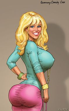 cartoon curvy figure