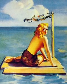 nude women fishing