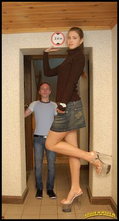 very tall and strong girl
