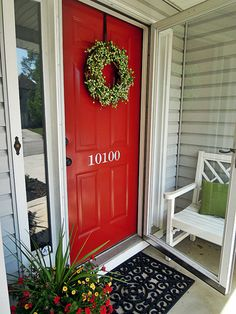 Painted front door w