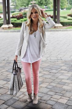 colored skinnies wit