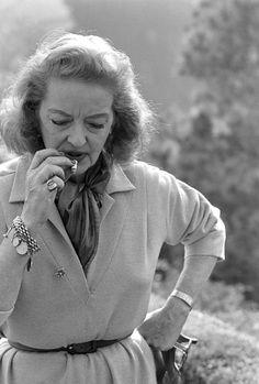 Bette Davis wearing