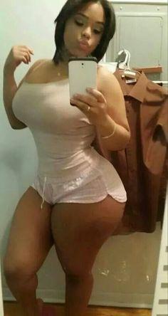 black thick ebony selfie