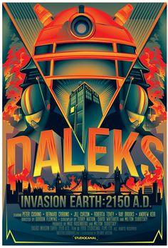 Poster do filme Dr. Who e a Guerra dos Daleks