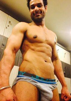 naked gay indian man