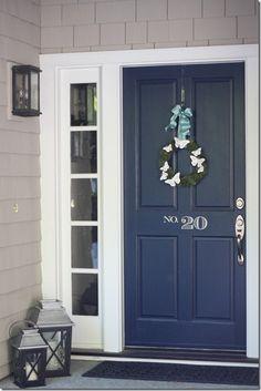Navy front door, pai