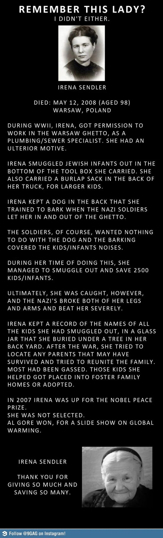 Women like this are truly inspirational! A real hero don't you think?
