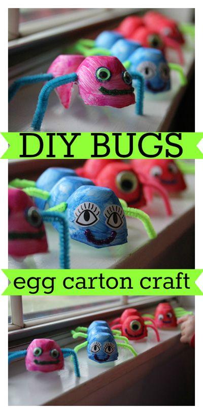 Egg Carton Bugs #kids #craft