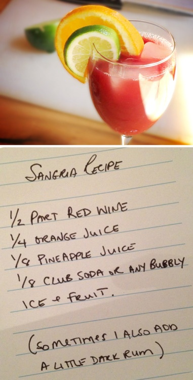 My favourite Sangria recipe for the summer!
