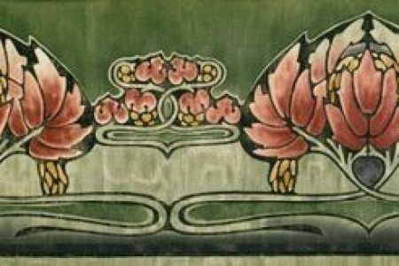 Green Art Nouveau And Wallpaper Borders On