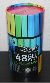 Review: Gel Pens 48 Ink Colors Pen Set with Case | Paulette's Papers: