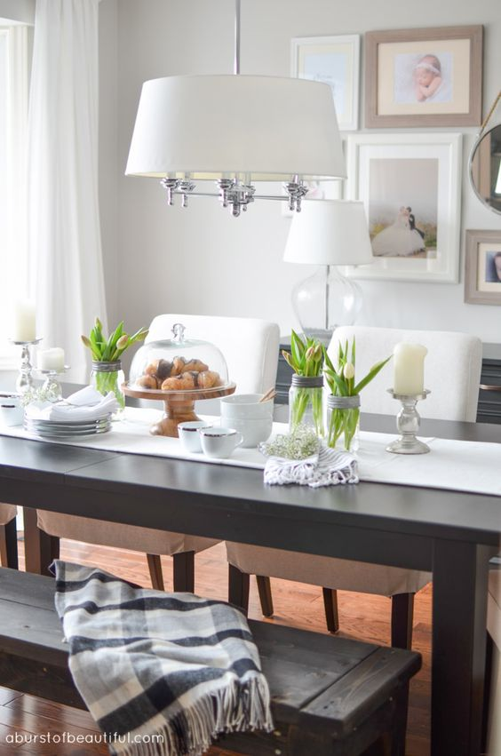 Bright and Neutral Living Room and Dining Room - A Burst of Beautiful: