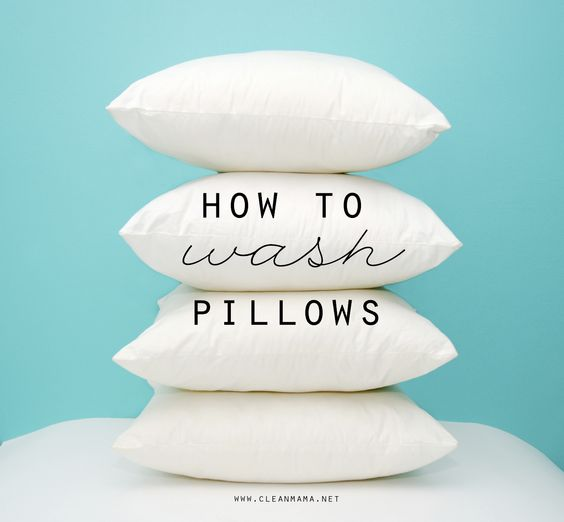 You've wondered if you can wash them - check out this simple tutorial - How to Wash Pillows via Clean Mama: