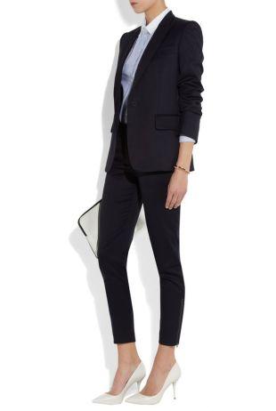 Shop the Masculine Tailoring issue of THE EDIT magazine. Stella McCartney|Velez wool-twill skinny pants.: