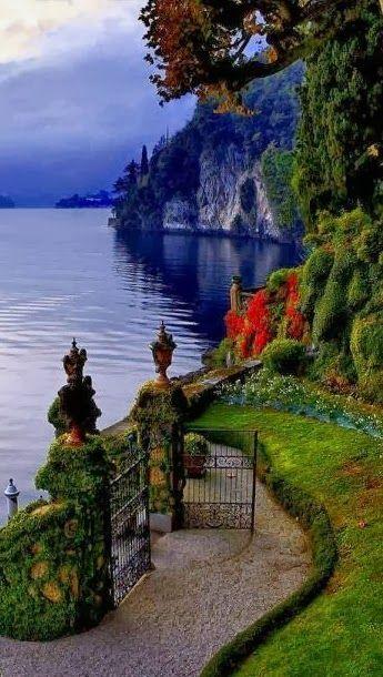 Gate Opens to Lake Como, Italy: