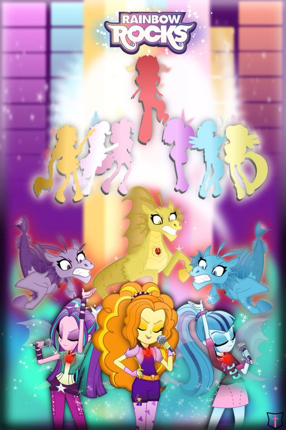Poster do filme My Little Pony: Garotas de Equestria - Rainbow Rocks