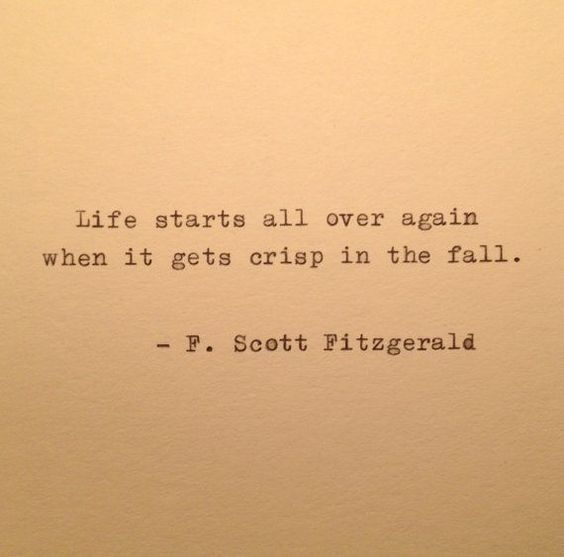 F Scott Fitzgerald Fall Quote