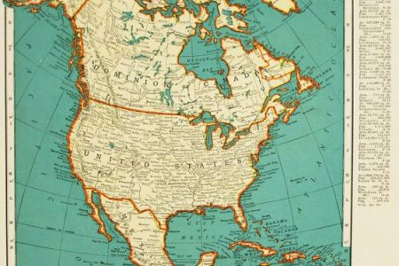 vintage maps, maps and north america on pinterest