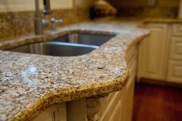 "Granite Edge: 1/4"" Beveled Edge - traditional - kitchen countertops - dc metro - Granite Grannies:"