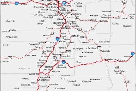 map of utah cities | state of utah usa | pinterest | utah