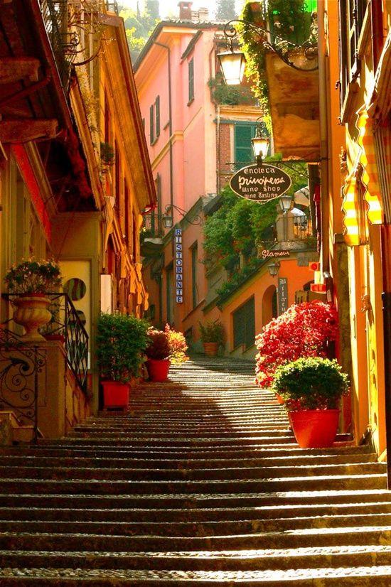 Stairway, Bellagio, Lake Como, Italy: