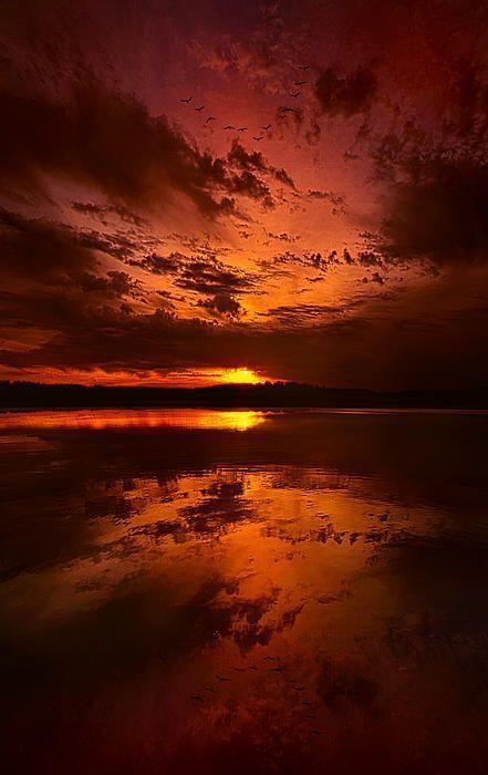 sunset - orange, yellow: