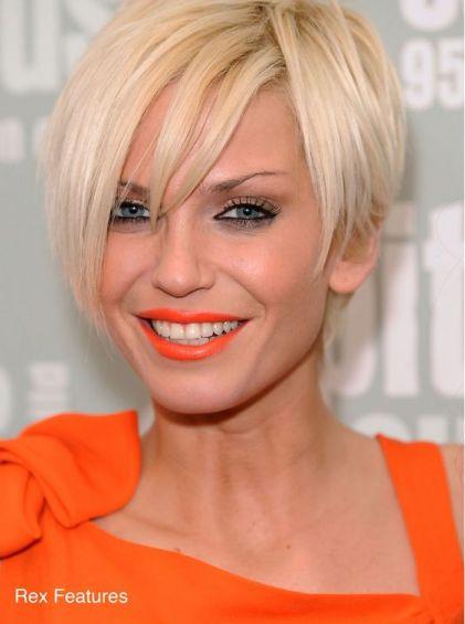 Sarah Harding paired her super hot orange dress with a splash of orange lipstick! You go girl!: