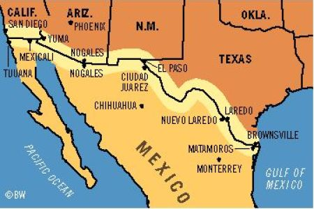 us mexico border map google search   house of the