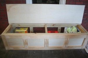 wood shoe storage bench plans