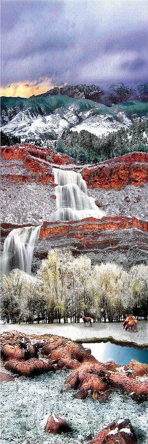 ✮ Rimrock Waterfall - Colorado: