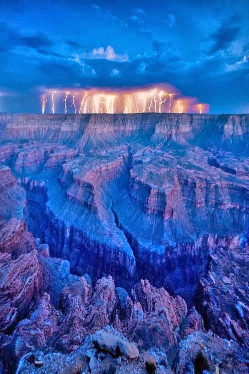 Lightning at the Grand Canyon: