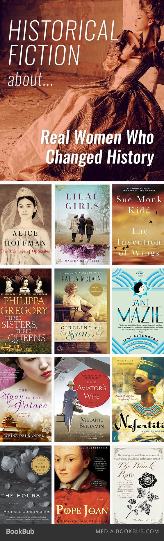 Historical fiction books about women who changed history.: