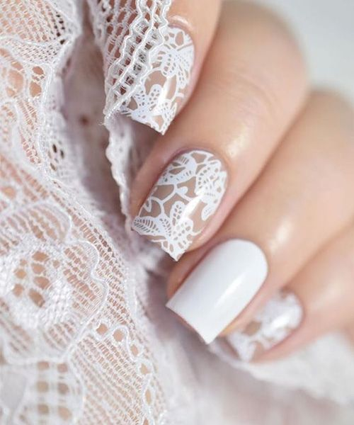 The Most Loving Lace Nail Art Design: