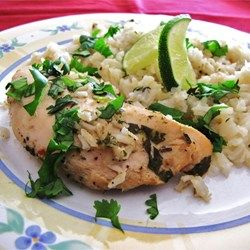 lime chicken with rice