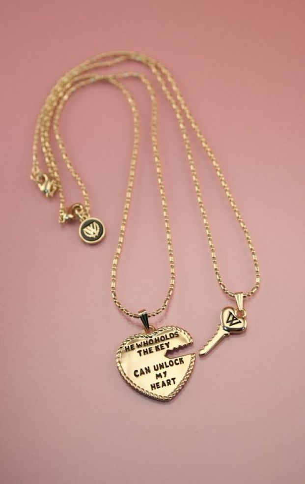 10K GOLD ANTIQUE HEART #heart #key #wildfoxcouture cute bf/gf gift even if he wouldnt wear the key ;P: