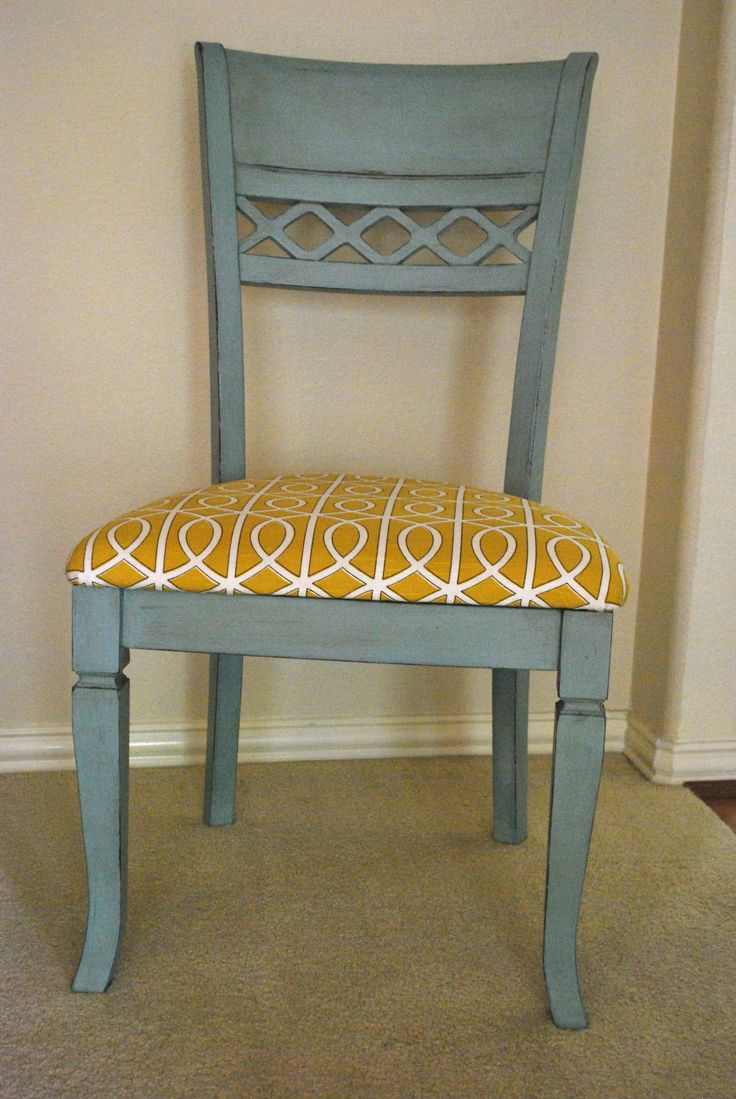 kitchen chairs kitchen chair I painted my kitchen chairs with Annie Sloan chalk paint Duck Egg Blue and