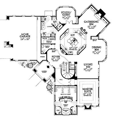 Perfect Dream Home Plan Kitchen Heart Of The Home 1st