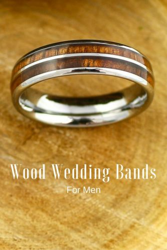 wood wedding bands wood wedding band 6mm Tungsten Carbide Ring with a Koa Wood Inlay