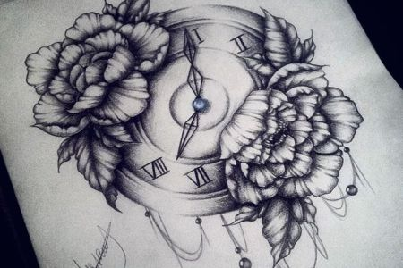 0827f9913852e2a9ac709366bce3f6fd clock drawing clock tattoo