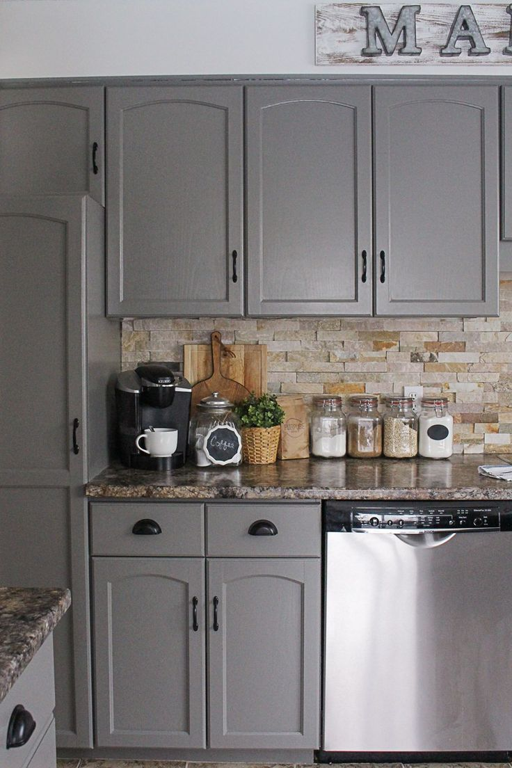 chelsea gray painted kitchen cabinets How To Paint Kitchen Cabinets A Step By Step Guide