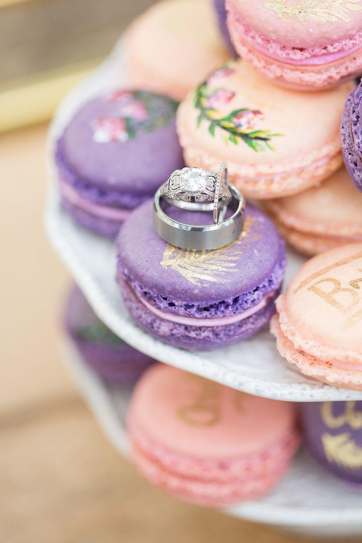purple wedding jewelry purple wedding rings pink and purple wedding macarons and wedding rings
