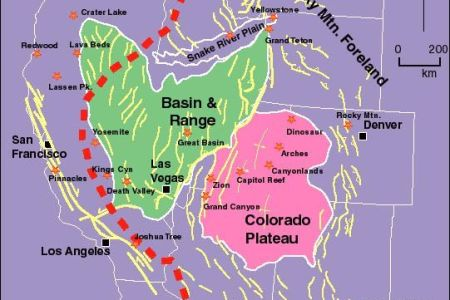 united states fault lines maps | tectonic map of western